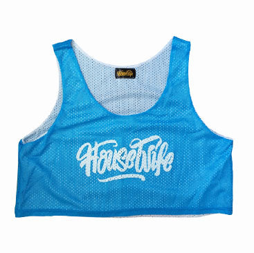 HOUSEWIFE Mesh Crop Top - Baby Blue