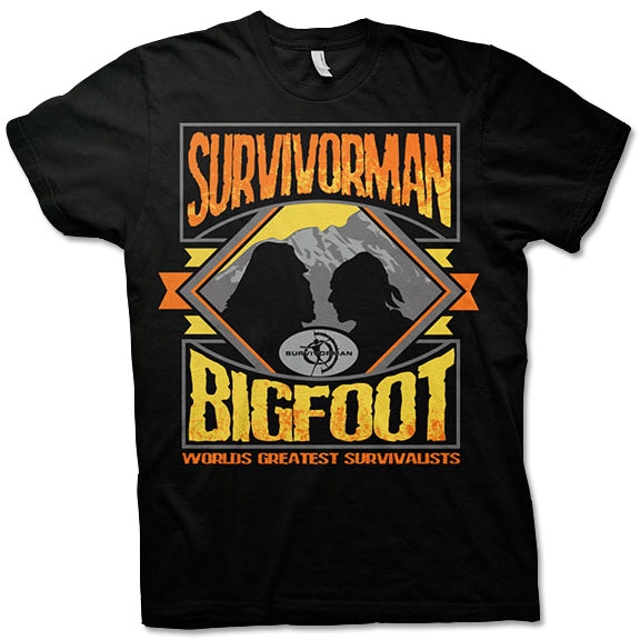 Survivorman Bigfoot - Versus Black T-Shirt