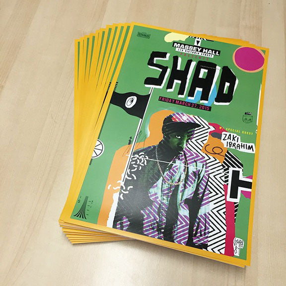 LTD. ED. SHAD Massey Hall Poster