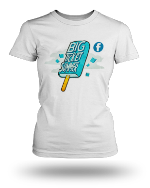 Big Ticket Summer Concert 2013 Popsicle T-shirt: Girls, White
