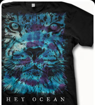 HEY OCEAN -Tie Dye Lion- T-Shirt - Black