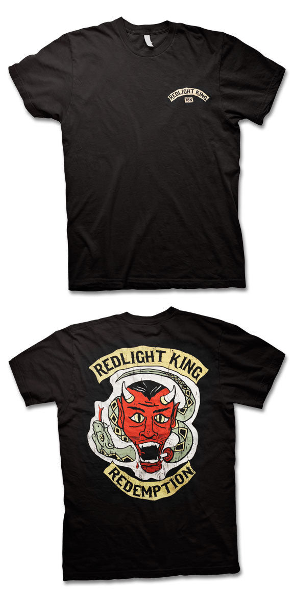REDLIGHT KING -Redemption- T-Shirt - Black