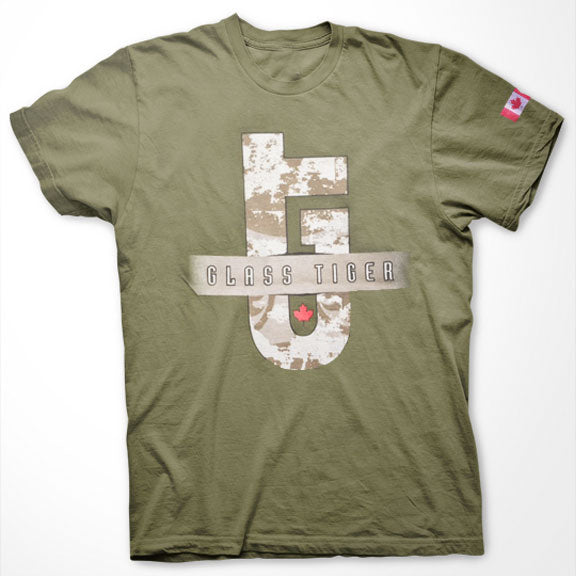 LTD. EDITION - GLASS TIGER -Logo- T-Shirt - Army Green