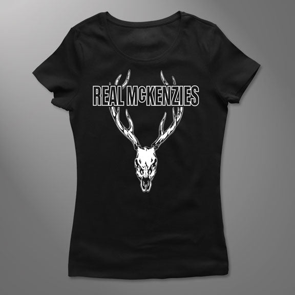 THE REAL MCKENZIES -Stag- GIRLS T-Shirt - Black