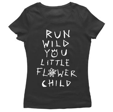 Coleman Hell - Flower Child - Ladies Black Tee