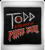 TODD and THE BOOK OF PURE EVIL -Logo- Patch