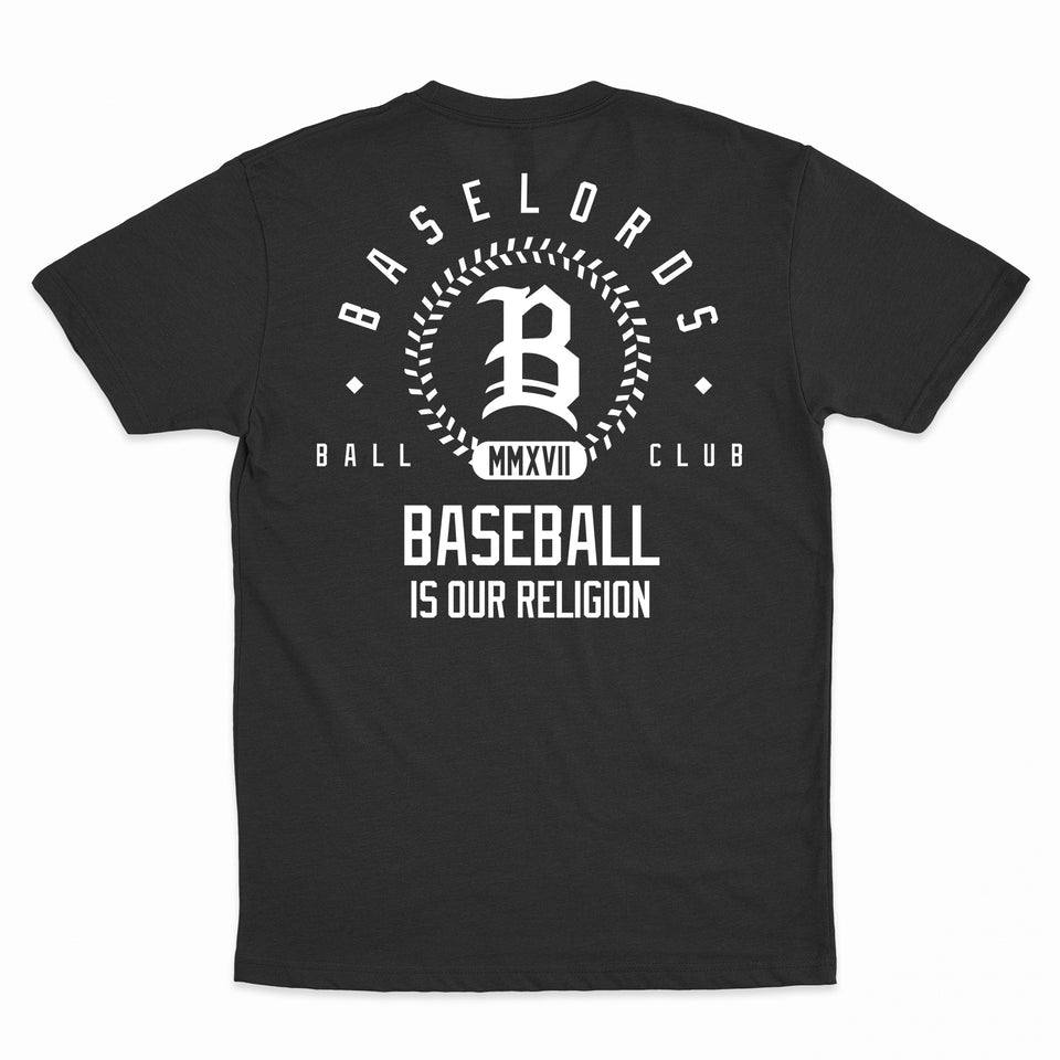 Baselords - Club 2.0 - Black Unisex Tee