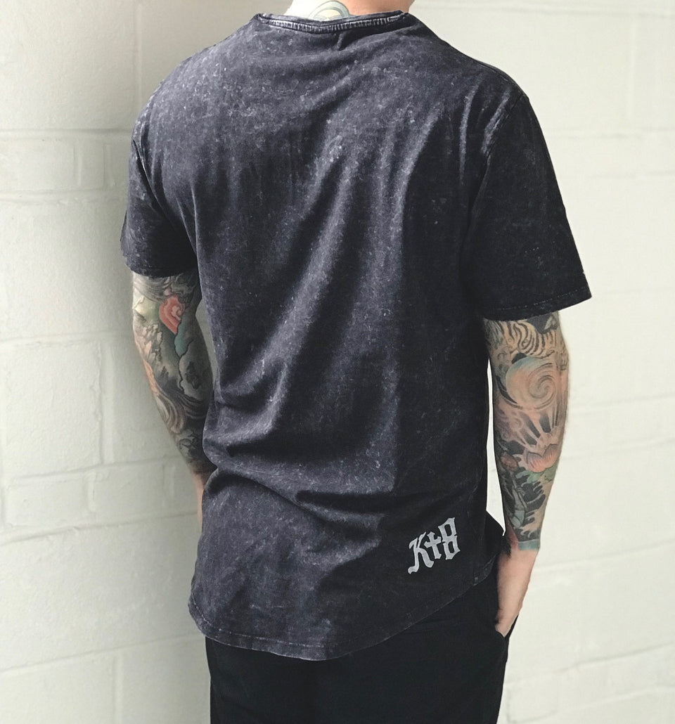KT8 Apparel - Create and Deploy - Pocket Tee - Distressed Black