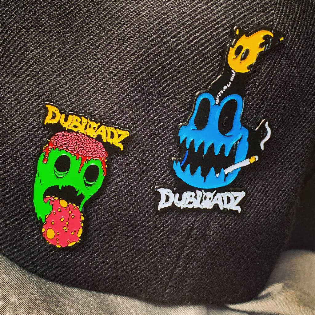Dubloadz - Bomber + Tongue - Lapel Pin Pack