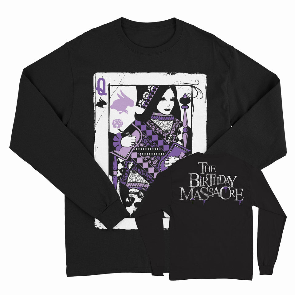 THE BIRTHDAY MASSACRE - Queen Card - Black Long Sleeve Shirt