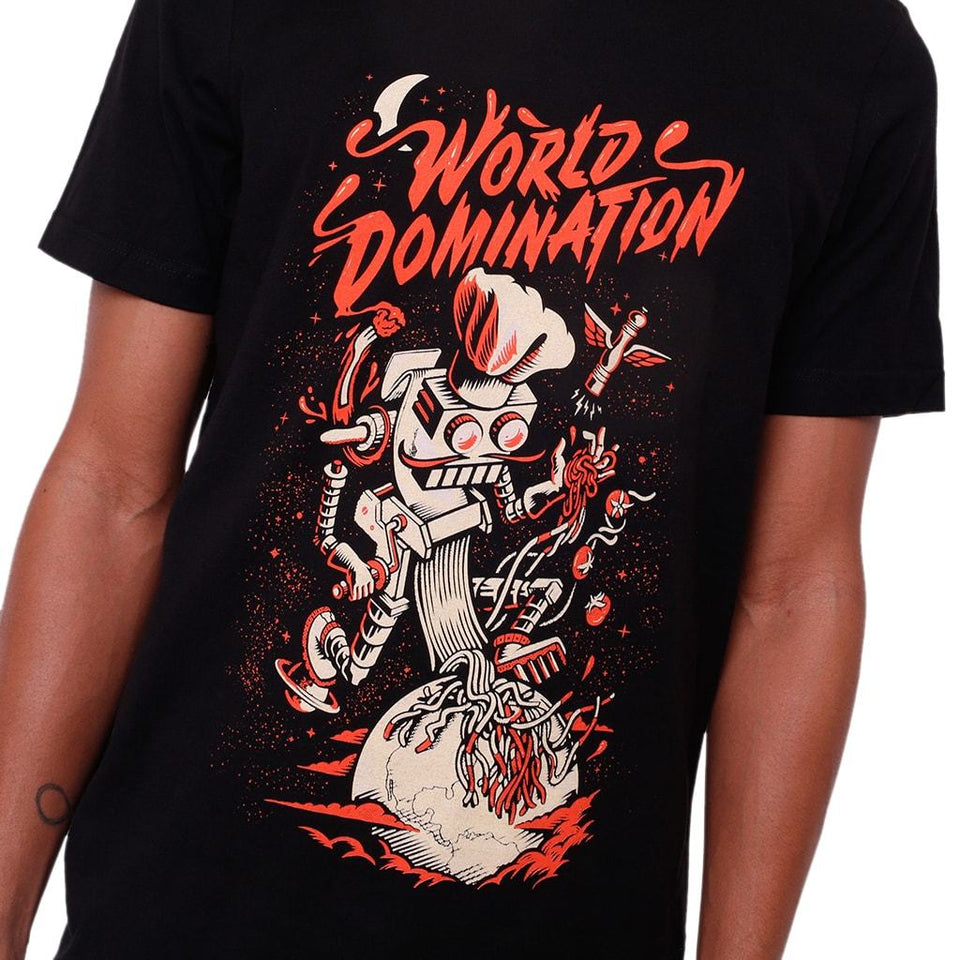 Spag Heddy - World Domination Robot - Black Tee