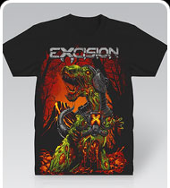 EXCISION -ZombieRex- Black T-Shirt
