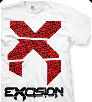 EXCISION -Big X- T-Shirt - White