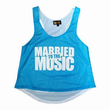 HOUSEWIFE The Mob Made Me Do It Mesh Tank Top - Baby Blue