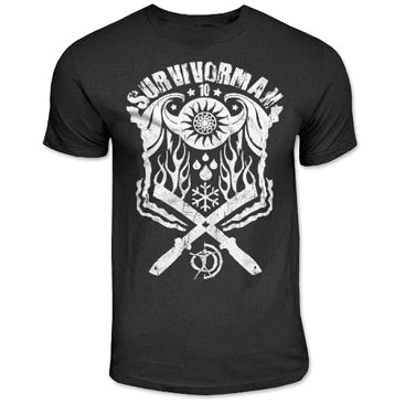 Survivorman Elements Black T-Shirt