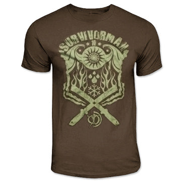 Survivorman Elements Brown T-Shirt