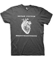 Bryan Potvin -Heartbled- Charcoal Tee