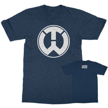 The Werks TW Logo Tee - Heather Navy