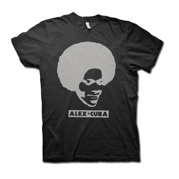 ALEX CUBA Go With The Fro Guys Shirt - Black
