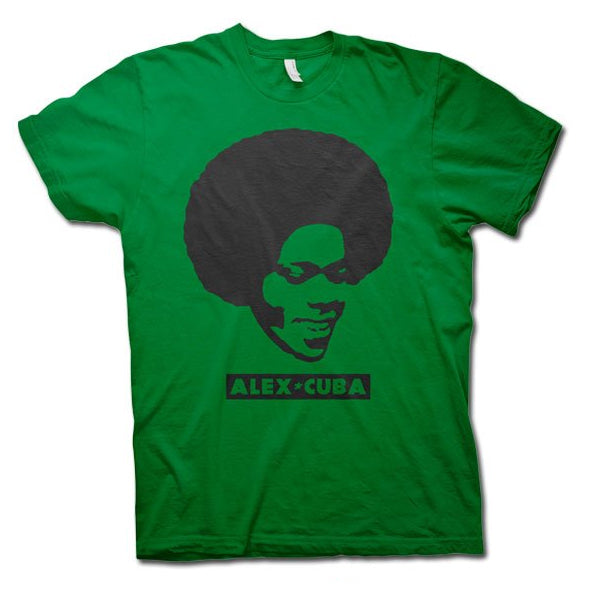 ALEX CUBA Go With The Fro Guys Shirt - Green