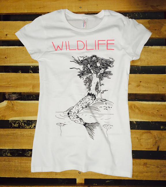 WILDLIFE -Mermaid- Girls White Tee