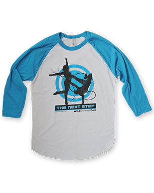 The Next Step 2016 - Dancing Duo - Raglan Shirt - White/Neon Blue