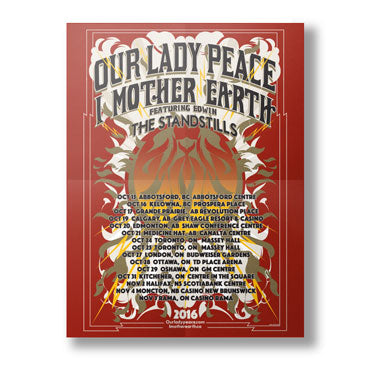 Our Lady Peace - OLP x IME - Official Tour Poster
