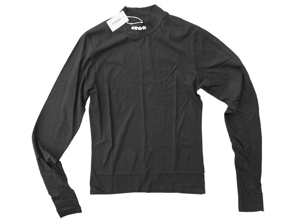 TWONK - Mock Neck extra-long sleeve shirt - Black