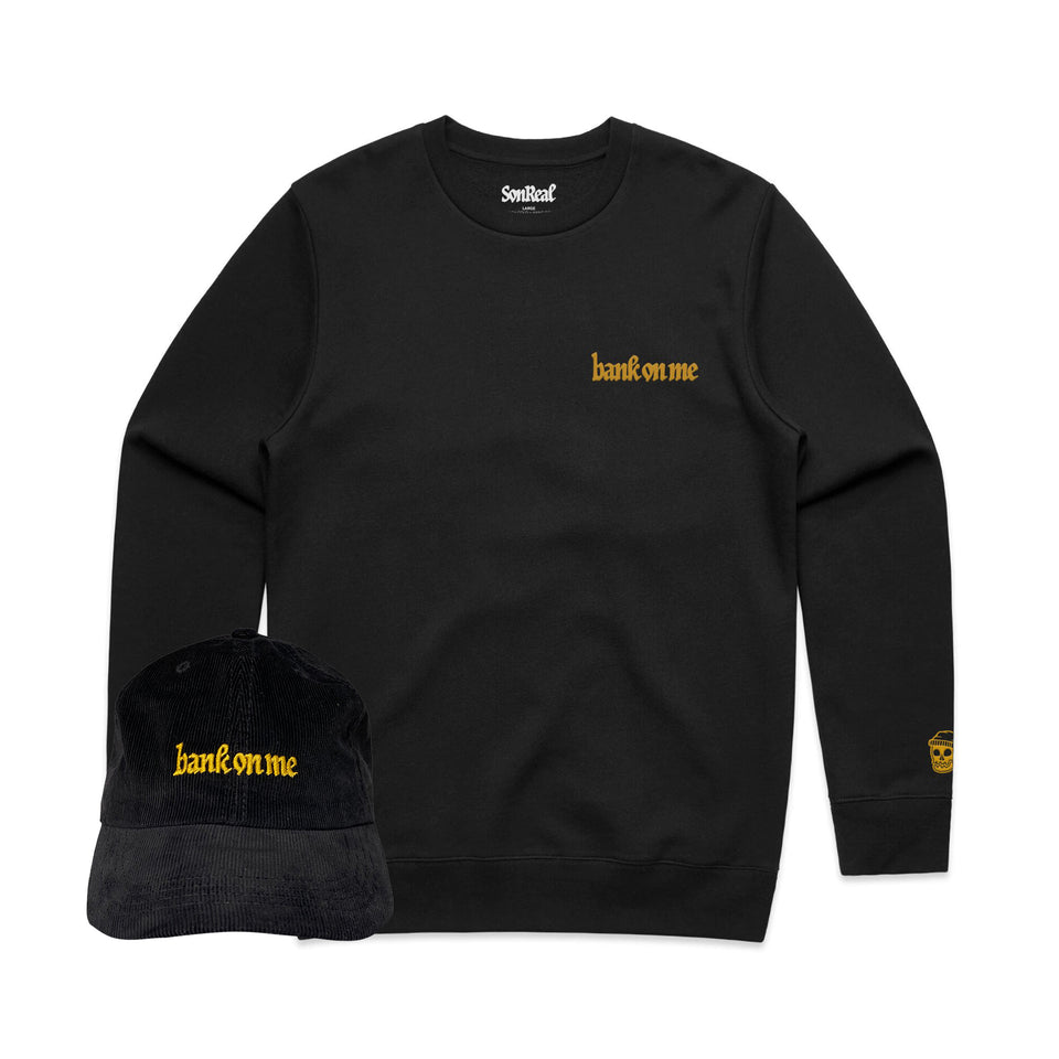 SonReal - Bank On Me - Black Crew + Hat Bundle