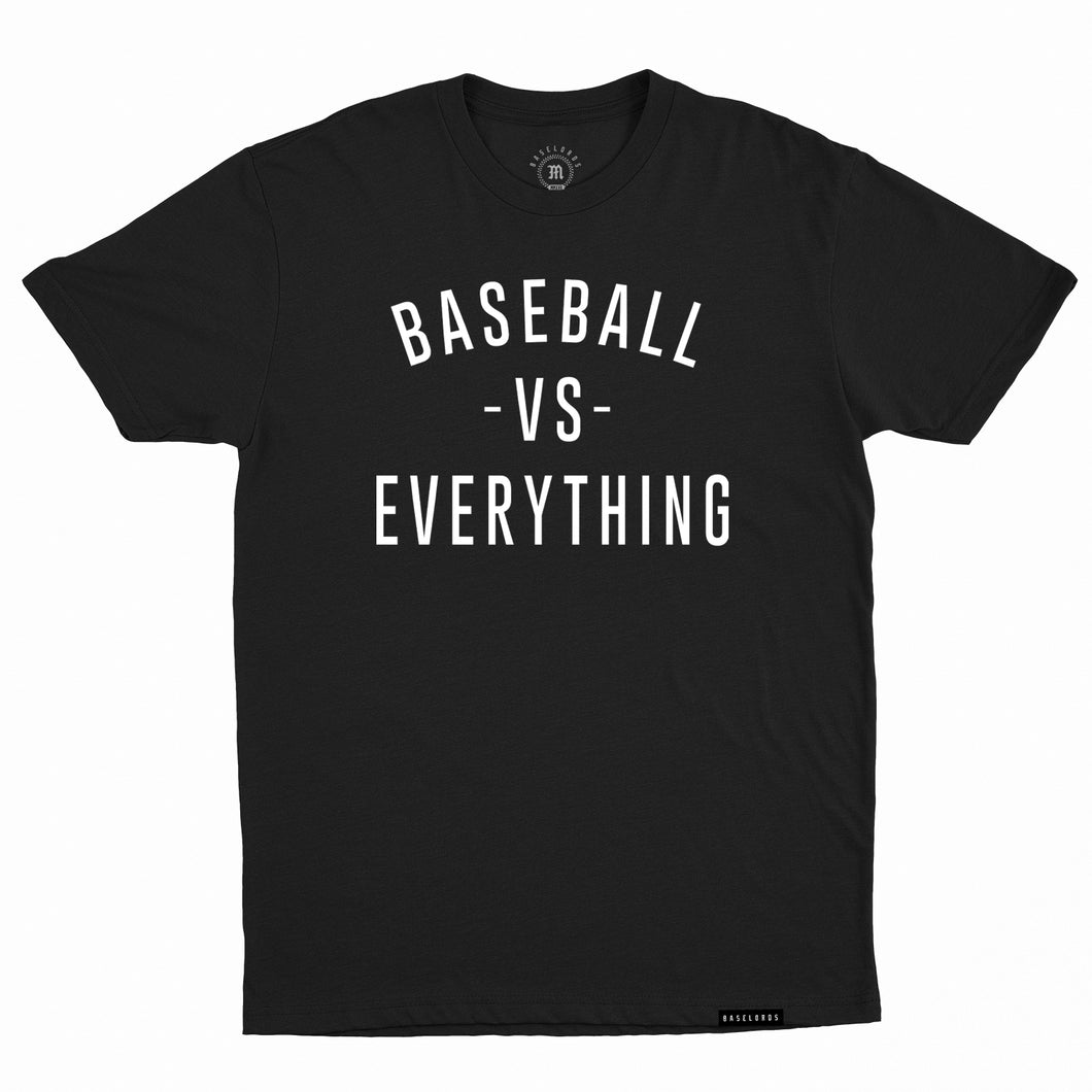 Baselords - Baseball vs. Everything - Black Unisex Tee