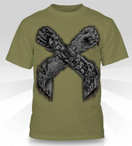 EXCISION -X-Arms 2- Olive T-Shirt