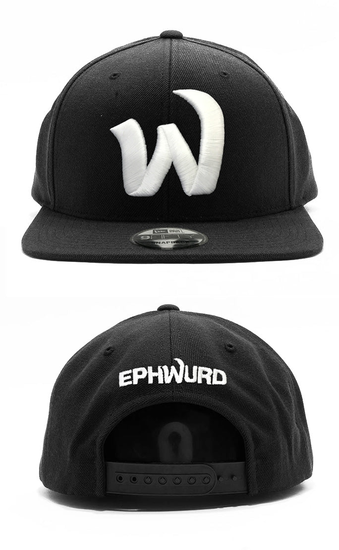 Ephwurd -W- Black New Era Snapback Hat