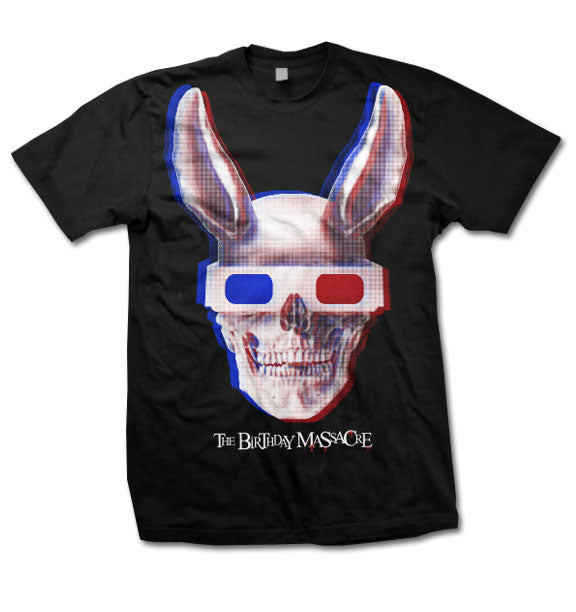 THE BIRTHDAY MASSACRE -3D Skull Bunny- T-Shirt - Black
