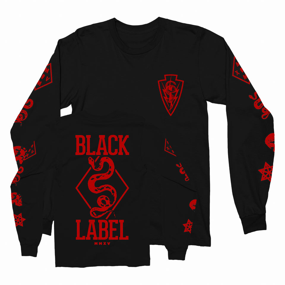 Black Label -Black Ops VIP- Long Sleeve Shirt w/ Red Print