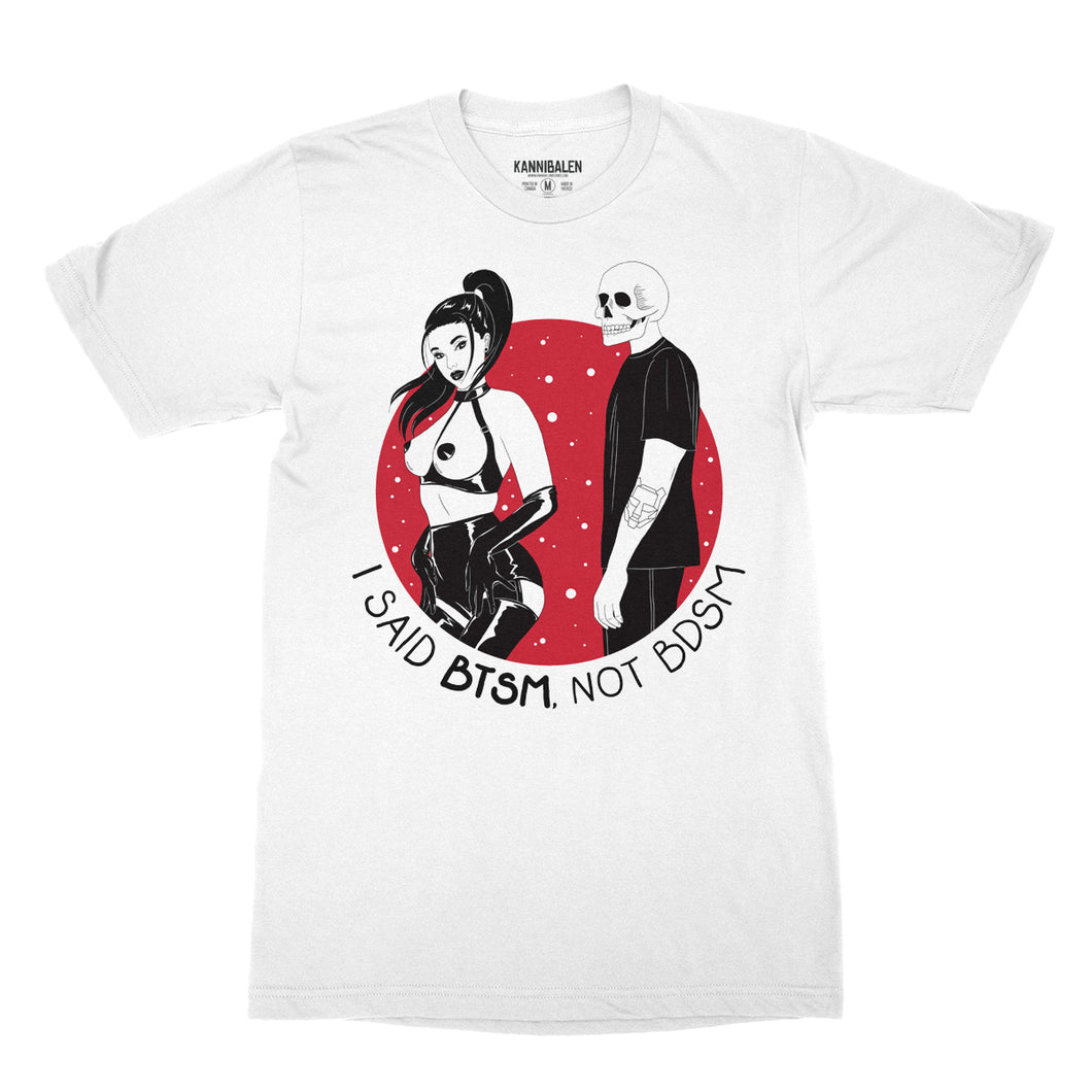 BTSM - Not BDSM - White Unisex Tee