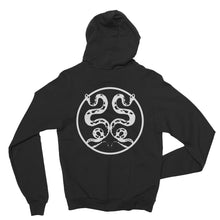 Black Label - Two Snakes - Black Zip Up Hoodie