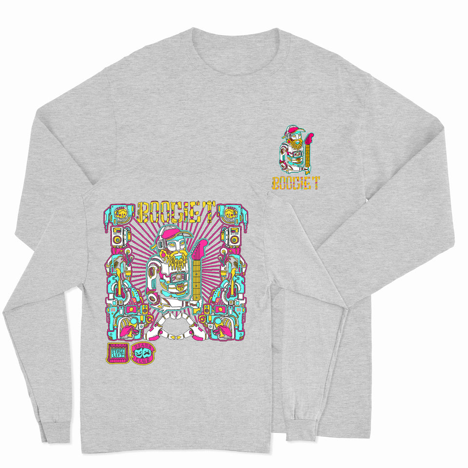 PRE ORDER - Boogie T - RoboBoogie - Athletic Gray Long Sleeve