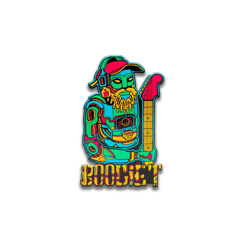 Boogie T - RoboBoogie - Glow In The Dark Pin