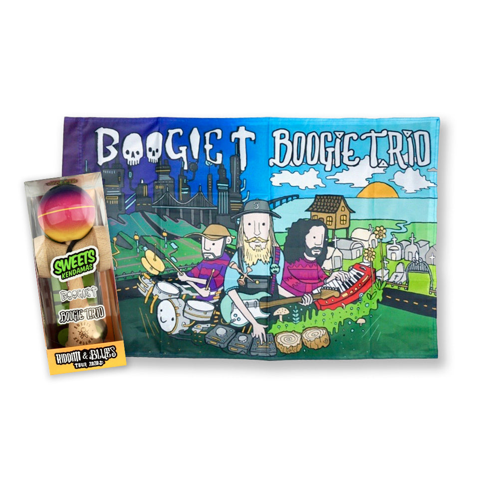 Boogie T - Riddim & Blues - Flag + Kendama Bundle
