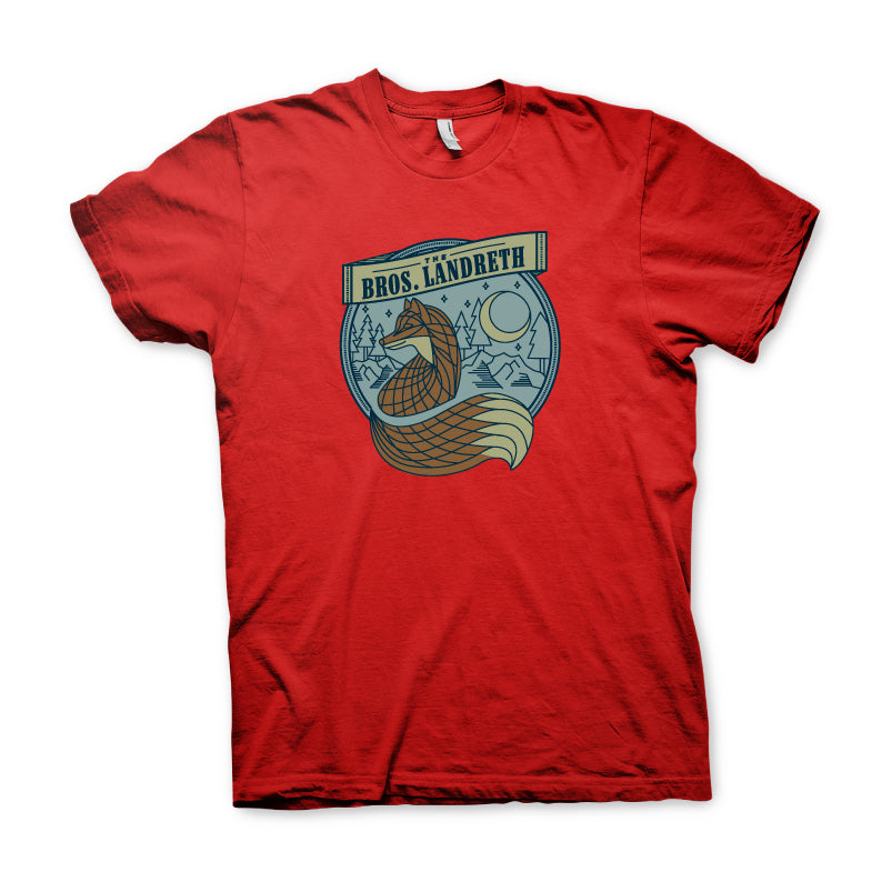 The Bros. Landreth - Unisex Fox Tee - Heather Red