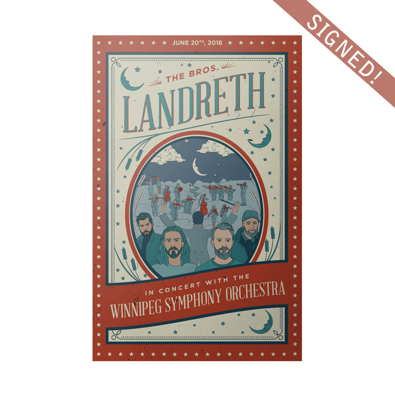 The Bros. Landreth - SIGNED Symphony Show Poster