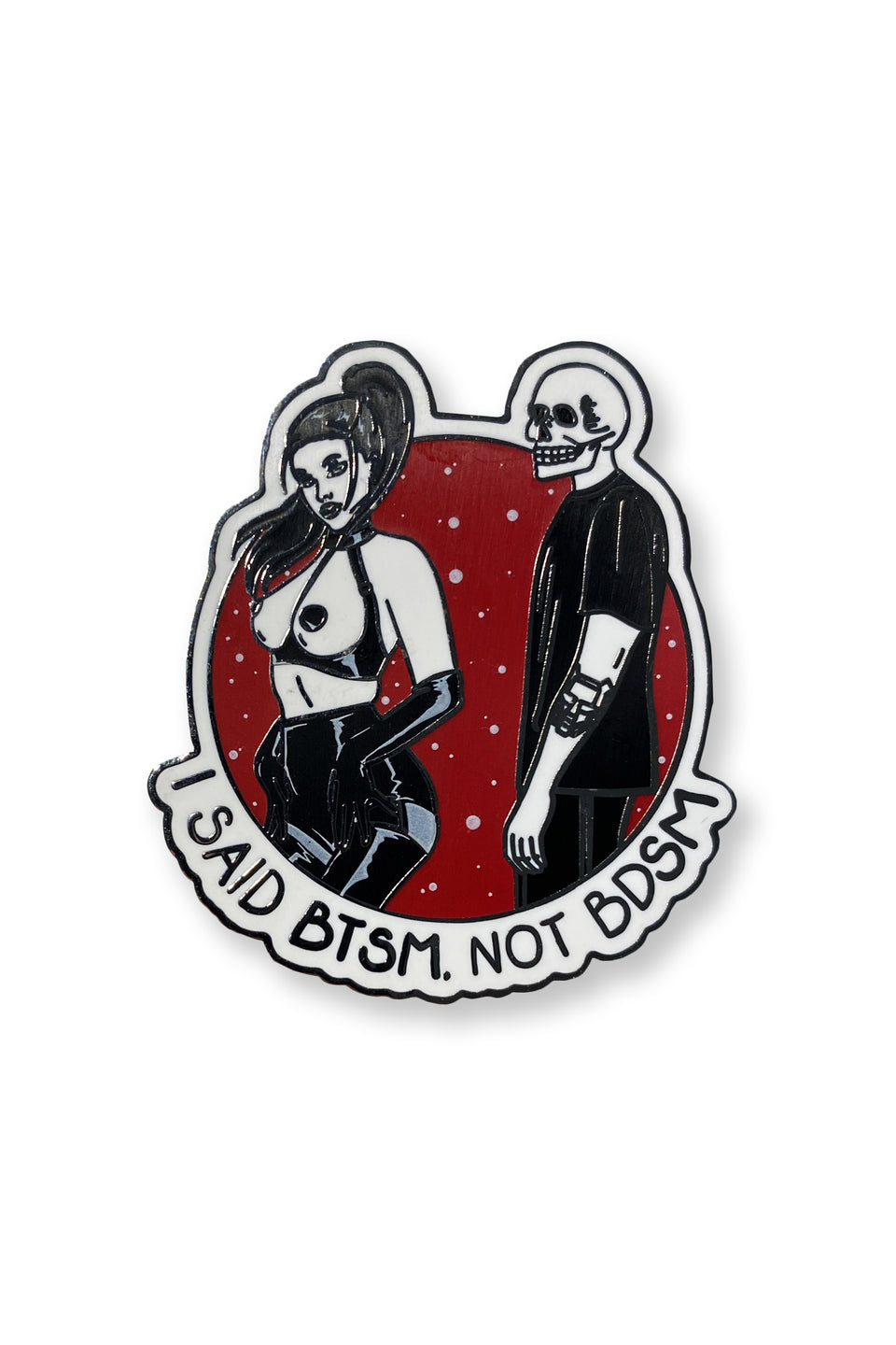 BTSM - not BDSM Lapel Pin