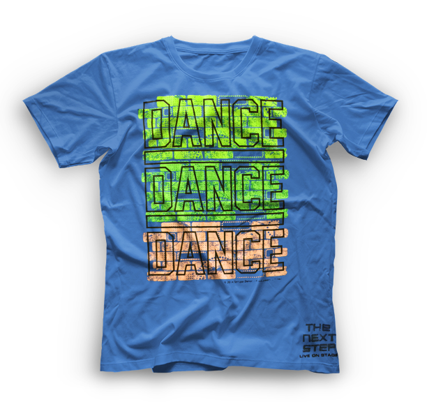 The Next Step 2015 Tour Dance Dance T-Shirt: Neon Blue