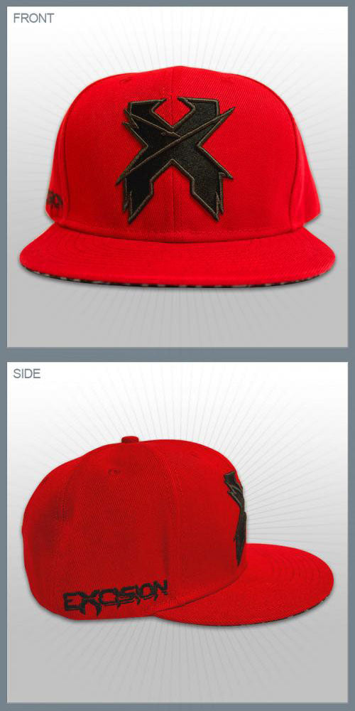 EXCISION -Snapback Hat- Red