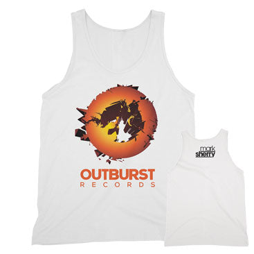 Mark Sherry - Outburst Records - White Unisex Tank Top