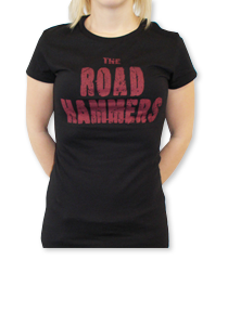 THE ROAD HAMMERS Wings Girls Black Shirt