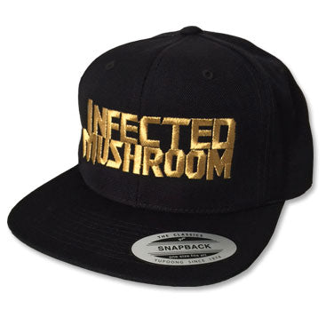 IM Metallic Logo Snapback Hat - Gold