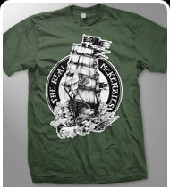 THE REAL MCKENZIES -Ship- Guys T-Shirt - Military Green