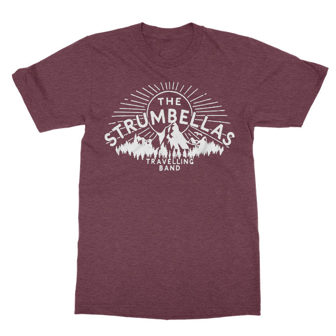 The Strumbellas Travelling Band Heather Maroon Tee