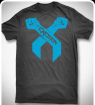 EXCISION Blue Arms T-Shirt - Black